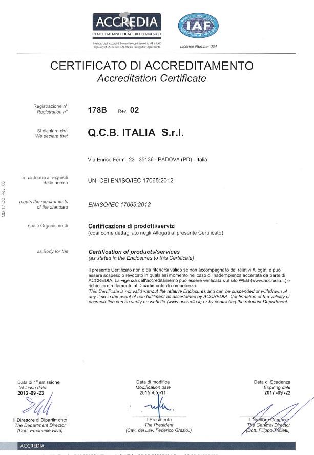 certificato PRD_178B rev 02_pag 1